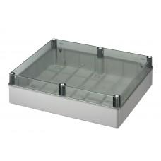 Коробка з низькою прозорою кришкою, IP56 460х380х120 мм