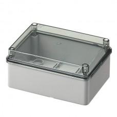 Коробка з низькою прозорою кришкою, IP56 150х110х70 мм