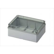 Коробка з низькою прозорою кришкою, IP56 190х140х70 мм