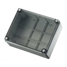 Коробка з низькою прозорою кришкою, IP56 240х190х90 мм