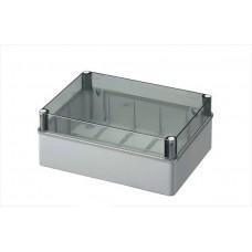 Коробка з низькою прозорою кришкою, IP56 300х220х120 мм