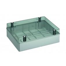 Коробка з низькою прозорою кришкою, IP56 380х300х120 мм