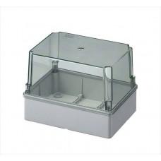 Коробка з високою прозорою кришкою, IP56 190x140x140 мм