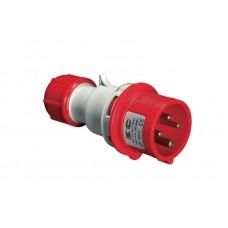 Вилка кабельна  EC69078, IP44 (32A, 380V, 3P+N+PE) Elettrocanali