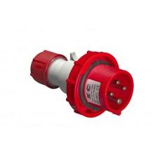 Вилка кабельна   EC69079, IP67 (32A, 380V, 3P+N+PE) Elettrocanali