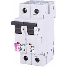 Автоматичний вимикач ETIMAT 10 2p C6, 2133712, ETI