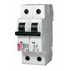 Автоматичний вимикач ETIMAT 10-DC 2p C0,5 6kA, 2138701, ETI