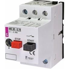 Автоматичний вимикач захисту двигуна MS25-0,16 4600010 ETI