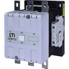 Контактор силовий ETI CEM112.22 230V AC (112A; 55kW; AC3) 3NO+(2NO+2NC) (4653143)