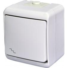 1-клавішний прохідний вимикач IP54 ETI VHE-3 Білий 4668002 (зовнішній)