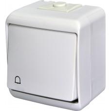 """1-клавішний вимикач """"дзвінок"""" IP54 ETI VHE-4 Білий 4668003 (зовнішній)"""