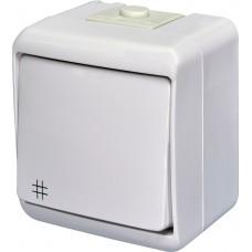 1-клавішний перехресний вимикач IP54 ETI VHE-6 Білий 4668005 (зовнішній)