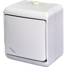 1-клавішний прохідний вимикач IP54 ETI VHE-3L з підсвіткою Білий 4668009 (зовнішній)