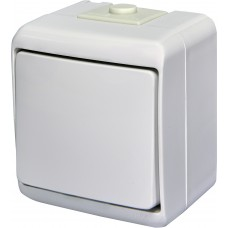 Вимикач одноклавішний ETI Hermetics VHE-1 10A Білий (4668000)