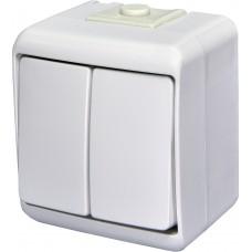 Вимикач двоклавішний ETI Hermetics VHE-2 10A Білий (4668001)