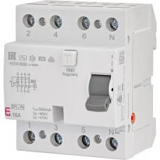 Диференціальне реле ETI (ПЗВ ) EFI-4 4P 16A 10kA 500mA AC 2065141 (2061640)