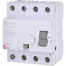 Диференціальне реле ETI (ПЗВ ) EFI6-4 4P 25A 6kA 30mA  AC (2062137)