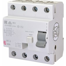 Диференціальне реле ETI (ПЗВ ) EFI-4 4P 40A 10kA 30mA  AC 2062143 (2061612)