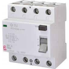 Диференціальне реле ETI (ПЗВ ) EFI-4 4P 100A 10kA 30mA AC 2062151