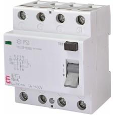 Диференціальне реле ETI (ПЗВ ) EFI-4 4P 100A 10kA 300mA  AC (2062155)
