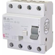 Диференціальне реле ETI (ПЗВ ) EFI-4 4P 63A 10kA 100mA  AC (2063144)