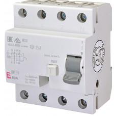 Диференціальне реле ETI (ПЗВ ) EFI-4 4P 80A 10kA 500mA AC 2065145