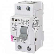 Диференційне реле (ПЗВ) ETI  EFI6-2 2P 16A 10kA 30mA (тип AC) 2062121