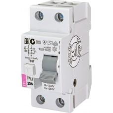 Диференційне реле (ПЗВ) ETI EFI6-2 2P 25A 10kA 30mA (тип AC) 2062122