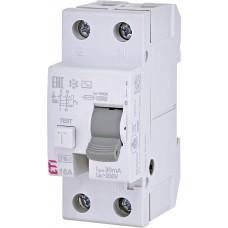 Диференційне реле (ПЗВ) ETI EFI6-2 2P 16A 6kA 30mA (тип AC) 2062131