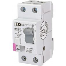Диференційне реле (ПЗВ) ETI EFI6-2 2P 25A 10kA 100mA (тип AC) 2063122