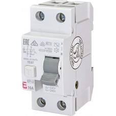 Диференційне реле (ПЗВ) ETI  EFI6-2 2P 16A 10kA 300mA (тип AC) 2064121
