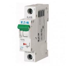 Автоматический выключатель Eaton 1P 0,16A C 4,5kA PL7-C0,16/1 262693