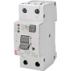 Диференційний автомат ETI KZS-2M2p EDI 1p+N B 6A 10kA 30mA (тип A) 2172401