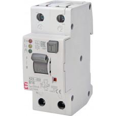 Диференційний автомат ETI KZS-2M2p EDI 1p+N B 16A 10kA 30mA (тип A) 2172406
