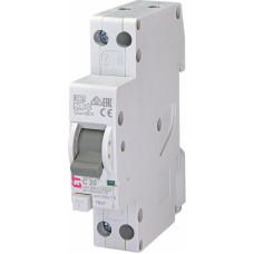Диференційний автомат ETI KZS-1M SUP 1P+N С 20A 6kA 30mA (тип A) підкл. знизу (2175225)