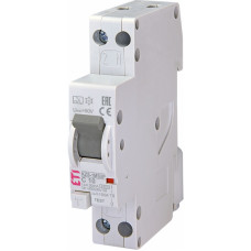 Диференційний автомат ETI KZS-1M SUP 1P+N С 10A 6kA 30mA (тип A) підкл. зверху (2175722)