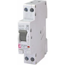 Диференційний автомат ETI KZS-1M SUP 1P+N С 16A 6kA 10mA (тип A) підкл. зверху (2175854)