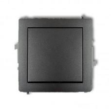 1-клавішний вимикач Karlik Deco графітовий 11DWP-1