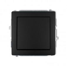 1-клавішний вимикач Karlik Deco чорний матовий 12DWP-1