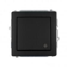 1-клавішний вимикач перехресний Karlik Deco чорний матовий 12DWP-6