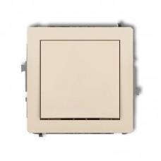 1-клавішний вимикач Karlik Deco бежева 1DWP-1