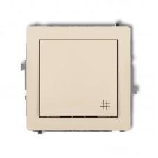 1-клавішний вимикач перехресний Karlik Deco бежевий 1DWP-6