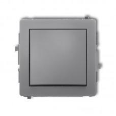 1-клавішний вимикач Karlik Deco сірий матовий 27DWP-1