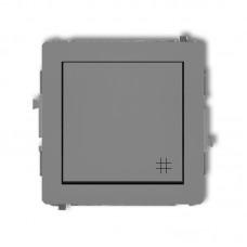 1-клавішний вимикач перехресний Karlik Deco сірий матовий 27DWP-6