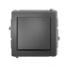 1-клавішний вимикач Karlik Deco графітовий матовий 28DWP-1