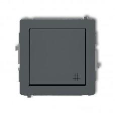 1-клавішний вимикач перехресний Karlik Deco графітовий матовий 28DWP-6