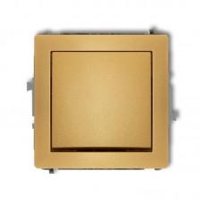 1-клавішний вимикач Karlik Deco золотий 29DWP-1