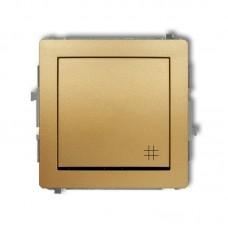 1-клавішний вимикач перехресний Karlik Deco золотий 29DWP-6