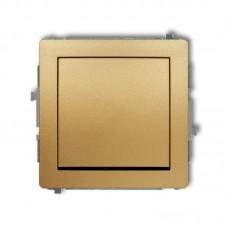 1-клавішний вимикач перехресний Karlik Deco золотий 29DWP-6.1 (без піктограми)