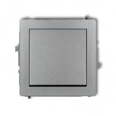 1-клавішний вимикач Karlik Deco сріблястий металлік 7DWP-1